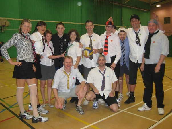 Bournemouth Falcons Volleyball Club - Charity Tournament (Not our normal kit!)